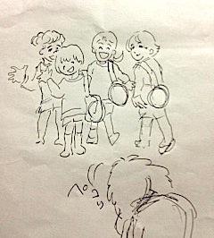 小栗栖ゆかりサブウェイライブ(イラスト)